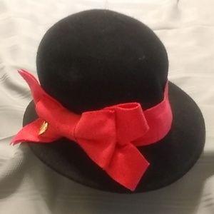 Betsey Johnson Downton Abbey Style 100% Wool Hat